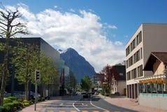 Townscape de Vaduz Foto de archivo