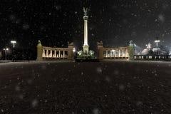 Townscape del invierno Fotografía de archivo libre de regalías