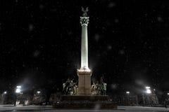 Townscape del invierno Fotos de archivo