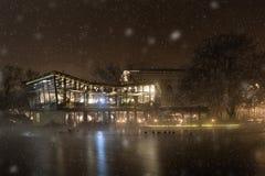 Townscape del invierno Fotos de archivo libres de regalías