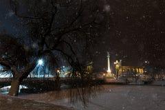 Townscape del invierno Imagen de archivo libre de regalías
