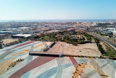 Townscape di Torrevieja di fotografia aerea spain immagine stock libera da diritti