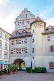 Townscape Of Feldkirch - Churer Tor Stock Photography