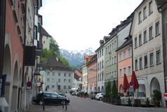 Townscape of Feldkirch Royalty Free Stock Photography
