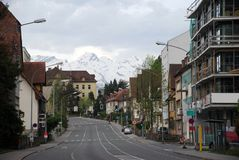 Townscape of Feldkirch Stock Photography