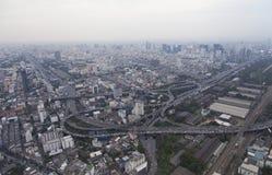 Townscape från över Arkivbild