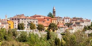 Townscape Labin, Kroatien Arkivfoto