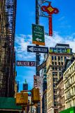 Townscape of Manhattan,New York. Shooting location :  Manhattan, New York stock photography