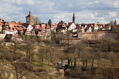 Townscape of Rothenburg ob der Tauber Stock Photos