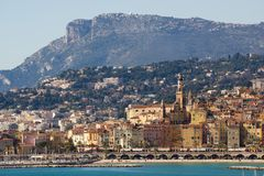 The townscape of Menton. Royalty Free Stock Photos