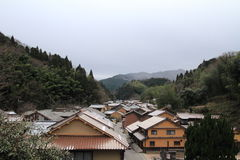 Townscape of Omori zone in Iwami ginzan silver mine (world heritage) Stock Photo