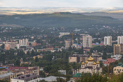 Townscape Pyatigorsk (Russia) from the mountain Mashuk Royalty Free Stock Photo