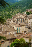 Townscape Scanno, tile roofs Royalty Free Stock Photography