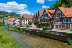Townscape of Schiltach Stock Photography