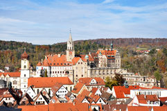 Townscape of Sigmaringen Royalty Free Stock Images