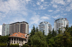 Townscape of Sochi Stock Images