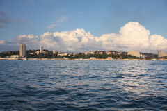 Townscape of Sochi. (Russia) - sunset. Sochi (Russia). High Resolution JPG royalty free stock photos