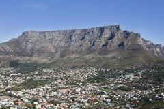 Townscape With Table Mountain Royalty Free Stock Photography