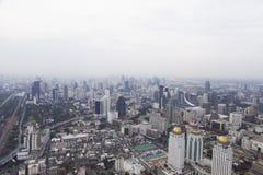 Townscape van hierboven Stock Foto