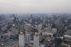 Townscape van hierboven Stock Foto's