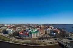 Townscape van Vyborg. Rusland Stock Foto's