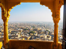 Townscape view from Jaisalmer Fort. Rajasthan, India royalty free stock image