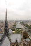 Townscape von einem Dach Lizenzfreie Stockfotografie