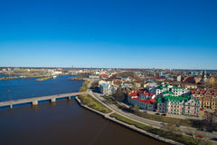 Townscape of Vyborg from a tower Royalty Free Stock Image