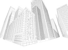 Townscape wireframe building Stock Image