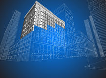 Townscape wireframe Royalty Free Stock Photos