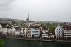 Townscape of Zurich, Switzerland. Stock Photo