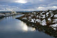 townsendwashington för port scenisk vinter Arkivbilder