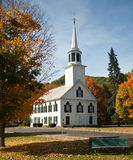 Townshend Church in Fall royalty free stock photos