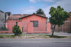 Township House in Langa. A red house in the South African Township Langa close to Cape Town royalty free stock images