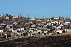 Township housing in Mooi River South Africa Royalty Free Stock Photos