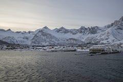 Township of Mefjordvær Stock Photo