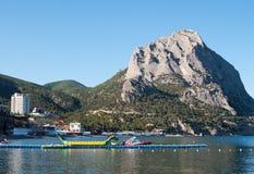 Township Novy Svet and mountain Sokol, Crimea Stock Photos