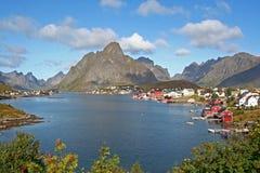 Township of Reine. Lofoten, Norway Stock Photo