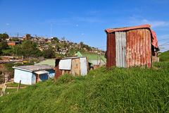Township in South Africa. View of a township in South Africa royalty free stock photography