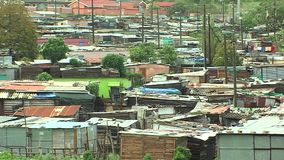 Township in south africa stock video