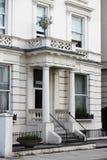 Townshouse georgiano típico del estilo en Londres fotos de archivo libres de regalías