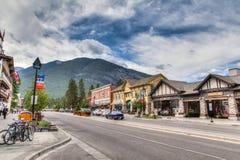 Townsite en el parque nacional de Banff, Canadá Fotografía de archivo
