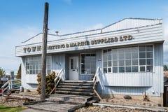 TownsNetting&Marine tillförsel i Steveston, Kanada royaltyfri foto