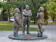 The Townspeople`s Conversation sculpture in Yekaterinburg, Russia Stock Photography