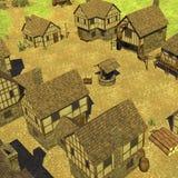 Средневековое townsquare Стоковая Фотография RF