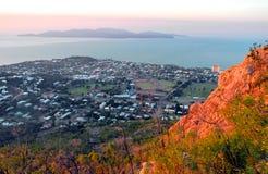 Townsvelle从纸盒小山的昆士兰澳大利亚 免版税库存图片