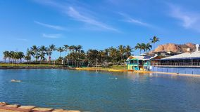Townsville Australia lagoon. Townsville Australia a beautiful man made swimming lagoon royalty free stock images