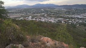 Townsville from castle hill lookout in Queensland, Australia stock footage