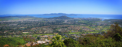 Townsville City Aerial Mt Stuart stock photo
