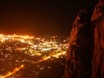 Townsville at night. City centre at night stock image